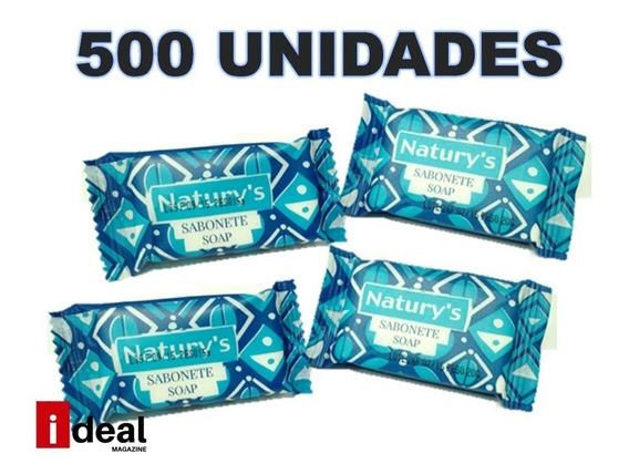 Kit 500 Sabonete 10 Gr Floral Hotel Pousada Frete Grátis