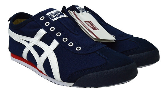 Tenis Onitsuka Tiger Hombre Azul Mexico 66 Slip On D3k0n5099