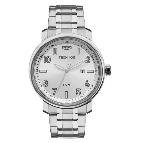 Relógio Technos Masculino Prata Analógico 2115mnh/1k