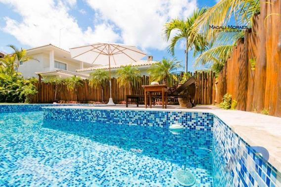 Casa Com 5 Dormitórios À Venda, 400 M² Por R$ 2.600.000,00 - Guarajuba - Camaçari/ba - Ca0037