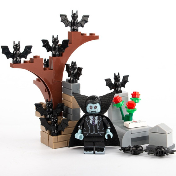 Conde Drácula Cemitério Morcegos Sepultura Set Terror Blocos