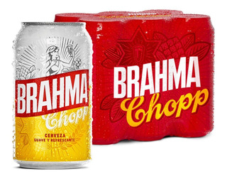Brahma Lata 354cc Pack X 24 Unid. Chopp Cerveza Rubia