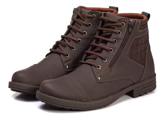 Sapato Botina Casual Social Masculino Com Ziper Bota Franca