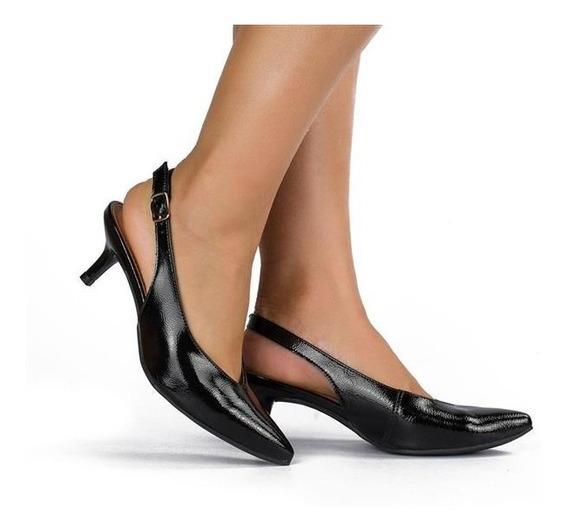 Sapato Scarpin Mule Dakota B9711 Preto Salto Fino Baixo Bico