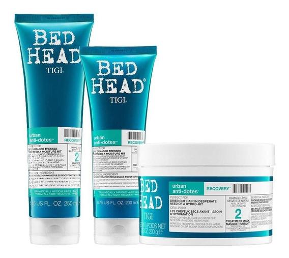 Shampoo 250ml+condicionador 200ml+máscara Tigi Recovery 200g