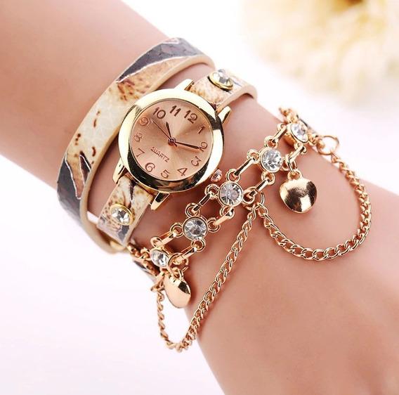 Relógio Pulseira Feminino Quartzo, Várias Cores + Caixa De Presente + Brinde