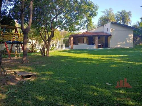 Chácara Com 2 Dormitórios À Venda, 1113 M² Por R$ 350.000,00 - Residencial Vale Dos Lírios - Nova Odessa/sp - Ch0132