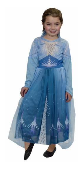Disfraz Frozen 2 Elsa Celeste Licencia Original New Toys