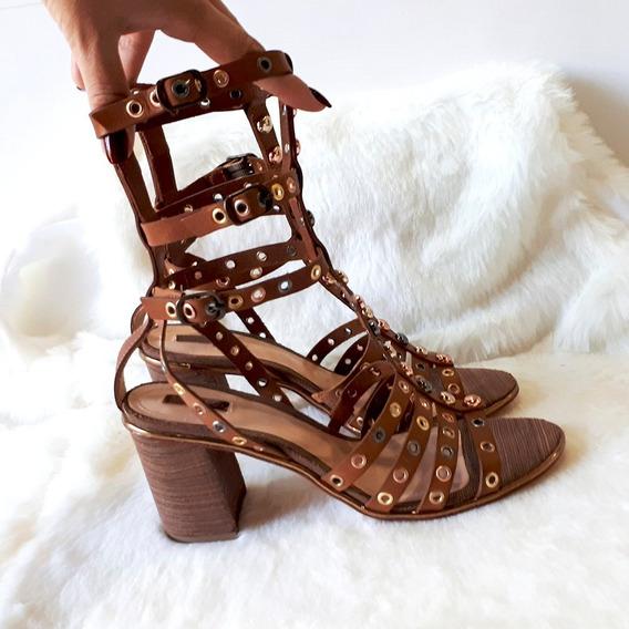 Sapato Schutz, Couro , Sandália Feminina,gladiadora, Moda