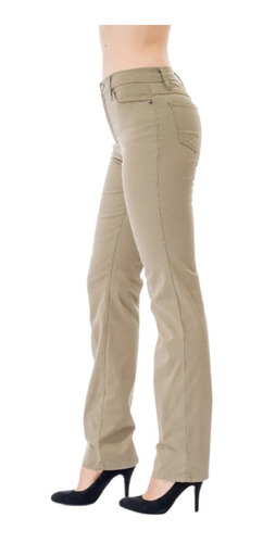 Pantalon Scandia Gabardina Stretch Recto Cintura
