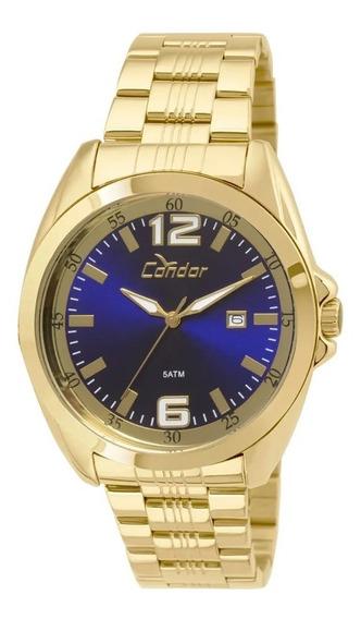 Relógio Condor Masculino Dourado Co2115vq/4a