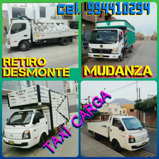 Eliminacion Desmonte O Taxi Carga. Mudanzas Baratito