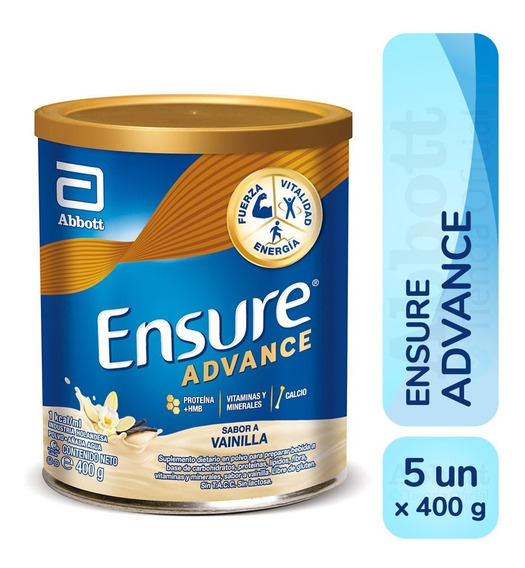 Ensure Advance En Polvo 400 Gr Pack X 5 - Varios Sabores