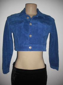 Casaco Jaqueta Blazer Veludo Azul Bivik P Bom Estado
