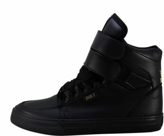 Tênis Bota Preto Mad Bull X Dr7 Staff Sneaker Promoção