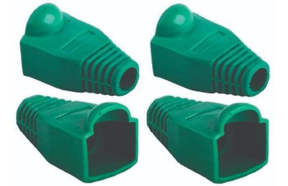 Capa Protetora Borracha Conector Rj45 Verde Kit C/ 200