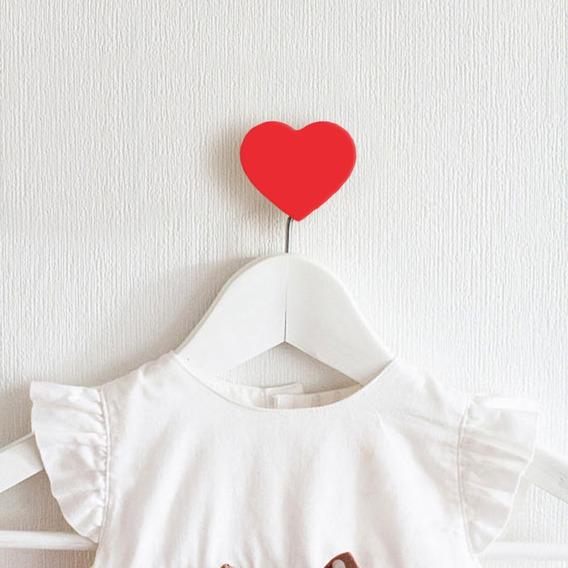 Gancho De Parede Coração Kit Com 4 - Um Sonho De Decoração