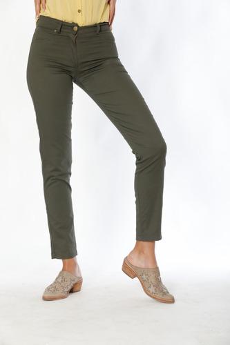 Pantalón Recto Tiro Medio   Varios Colores Cotton  Spandex