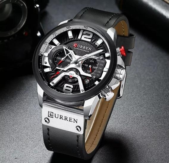 Relógio Masculino Curren Original Lançamento Pulseira Couro