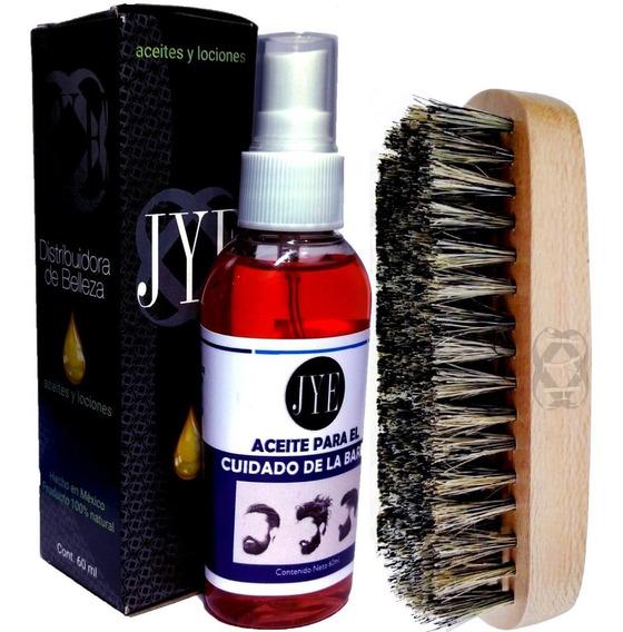 Kit Cuidado De Barba 1 Aceite Jye Y 1 Cepillo Jye Cafe