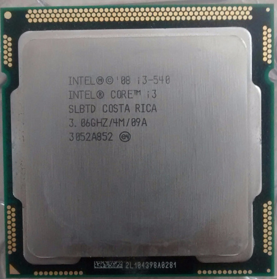 Cpu Intel Core I3 540 3,0 Ghz 2gb Ddr3 Hd 80 Gb