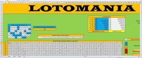 Planilha Lotomania - 58 Dezenas Garantia De 19 Pontos