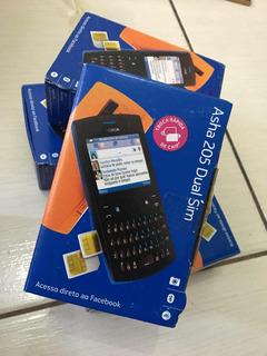 Lote Celular Nokia 205 Dual Sim Promoção 7 Peças