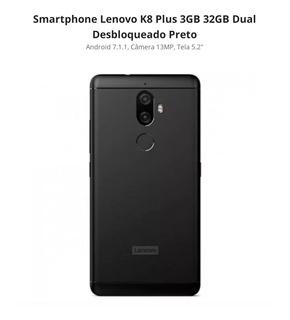 Celular Lenovo K8 Plus 32gb + 4g