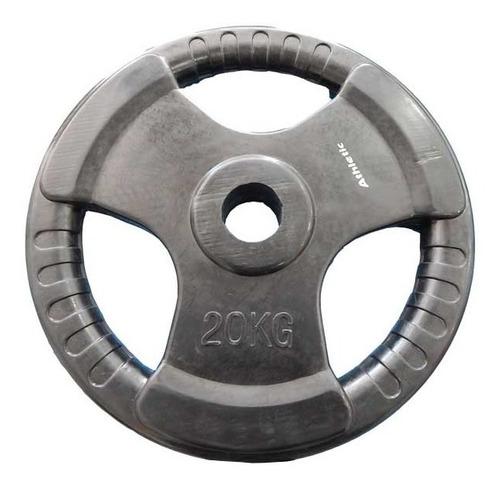 Disco Recubierto De Goma Olímpico 20kg Athletic