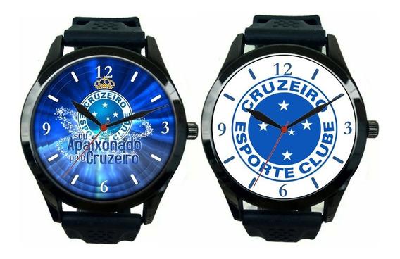 Kit 2 Relógios Pulso Esportivo Cruzeiro Masculino Barato