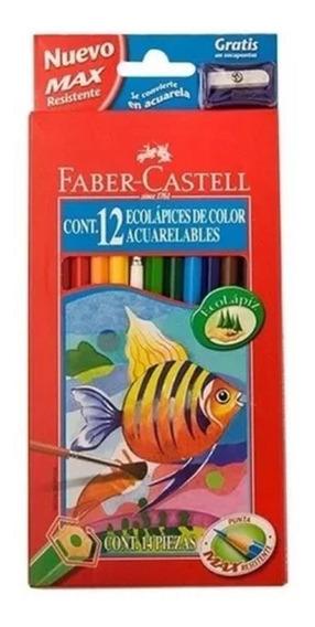 Lapices Acuarelables Faber Castell X 12 Unidades. Librería