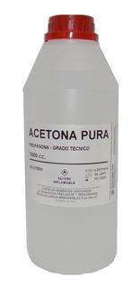 Acetona Pura - Botella 1 Litro - Araucomed
