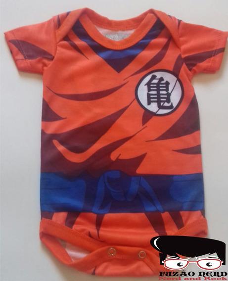 Body Uniforme Goku Roupa De Bebê Do Goku Fuzão Nerd
