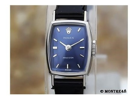 Rolex 2195 Ladies 18k Solid White Gold 14mm Manual 1970