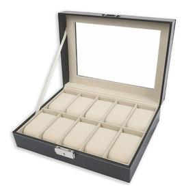 Porta Relojes 10 Unidades Caja De Lujo Damas Hombre Mujer