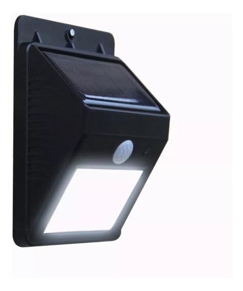 Luminária Lampada Solar Sensor Parede 20 Leds 12 Horas Noite