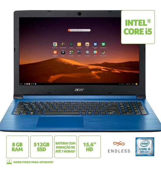 Notebook Acer Aspire 3 A315-53-c2ss Intel Core I5 8gb Ram