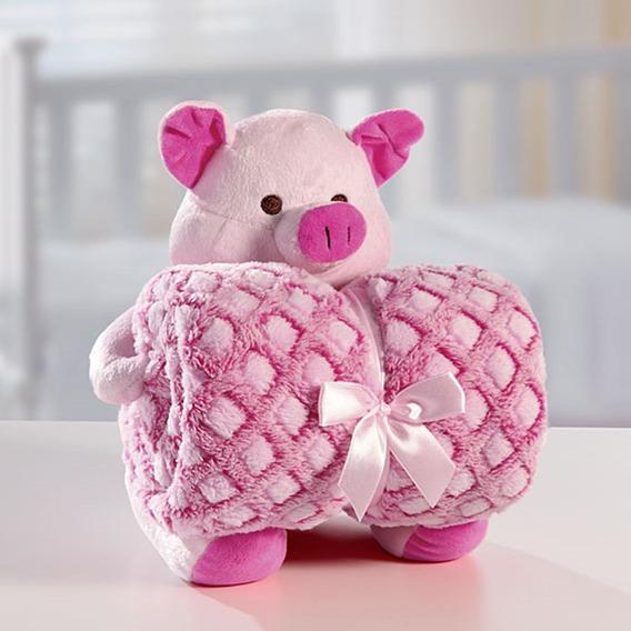 Manta Baby Com Bichinho Em Microfibra Premium Bouton