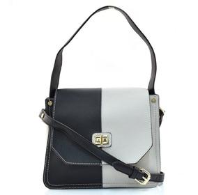 Bolsa Feminina Chenson Bicolor Tiracolo 3481311 Creme Preto