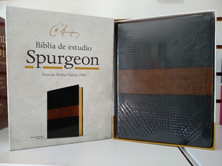 Biblia De Estudio Spurgeon Rvr-1960 Símil Piel Negro/marrón