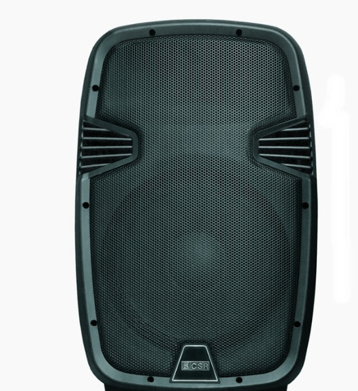 Caixa Bi Amplificada 10 100w Csr 5510 Bluetooth Usb Sd Fm