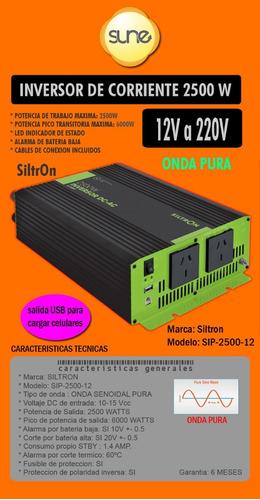 Energía Solar Inversor Onda Pura 12v 2500w