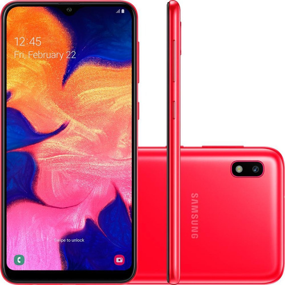 Smartphone Samsung Galaxy A10 6.2 32gb Vermelho - A105m