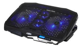 Base Suporte Cooler Para Notebook 17 Gamer Led 4 Coolers