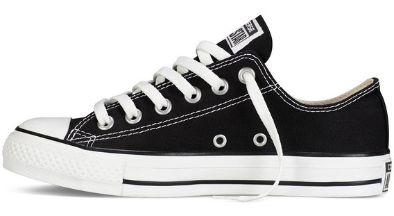 Tenis Converse All Star De Lona Blanco Negro Original Choclo
