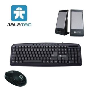 Jalatec Combo Mouse + Teclado + Parlantes Usb Oferta !!!
