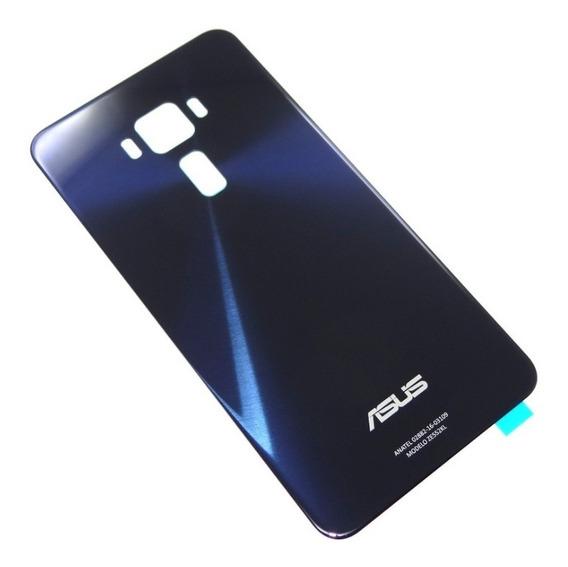 Tampa Traseira Vidro Asus Zenfone 3 Ze552kl Azul Original