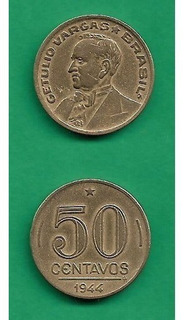 Grr-moneda De Brasil 50 Centavos 1944 - Getulio Vargas