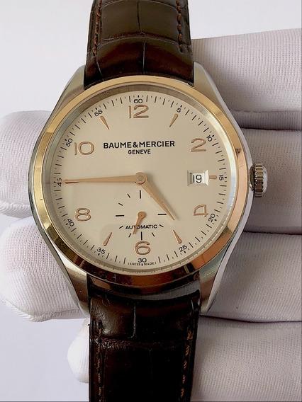 Baume & Mercier Clifton Aço E Ouro Rosa 41mm , Na Caixa !!!