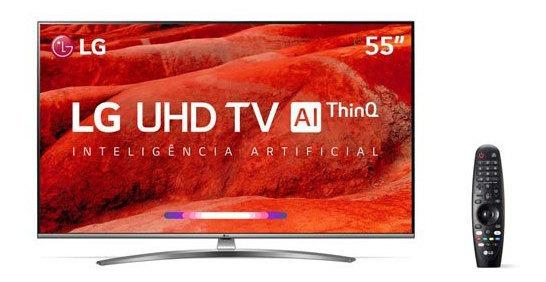 Smart Tv 4k Lg 55 Webos 4.5 Upscaler 4k Hdr Ativo 55um7650ps